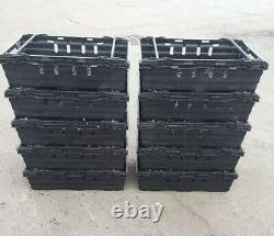 100 x Bail Arm Crates 600 x 400 x 200mm & 10 double dolly wheels