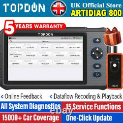 2021NEW! TOPDON AD800 WIFI Car Auto Diagnostic Tool OBD2 Scanner ABS SRS DPF EPB