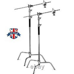 2-pack 10ft Heavy Duty C Stand Century Stand for Aputure 120d 300d ii 300x Godox