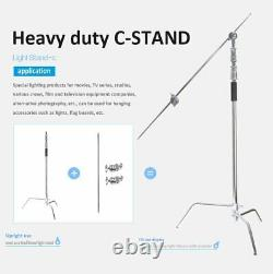 3pcs Professional Turtle Base Heavy Duty Studio C Stand with Gobo Arm Grip Heads