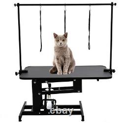 Extra Large Pet Dog Cat Grooming Trimming Table Hydraulic Stand Adjustable Arms