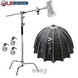 Heavy Duty C Stand with Light Dome II Kit for Aputure 120d II 300d II 300x Godox