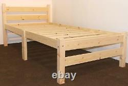 Heavy Duty Single 3ft Wooden Pine Bed Frame STRONG Quite SMOOTH and STURDY New