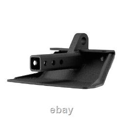 Heavy Duty Skid Plate For 2 Hitch Receivers with Red 3/4 D-Ring Shackle Set