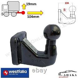Heavy Duty Towing Ball for 4 hole Tow Bar Hitch 83x56mm S=250kg 24,8kN Universal