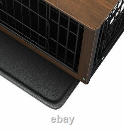Luxury Wooden Dog Cage Puppy Training Crate Heavy Duty End Table Pet House Cave