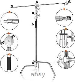 Professional Heavy Duty Studio C-Stand with Gobo Arm Grip Heads Century Stand UK