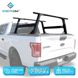 Rear Truck Bed Cover Rack Heavy Duty Paint Black Universal Fit for Tonneau Cover