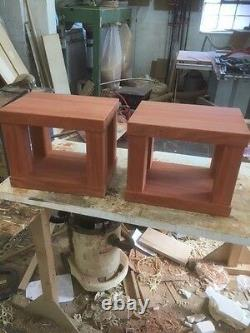 Solid Oak Heavy Duty Speaker Stands Made to Order