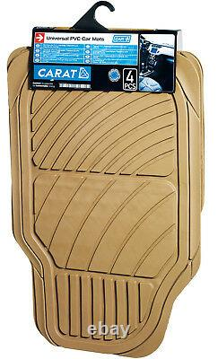Sumex Universal Heavy Duty Durable 6mm Thick Rubber 4pce Car Floor Mats Beige