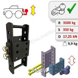 Tow Bar Ball Hitch Drop Plate Height Adjuster 370 mm Highly Universal Heavy Duty