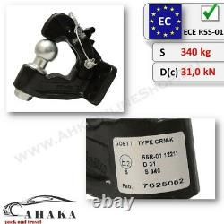 Universal Combination Pintle Hitch Hook with Tow Ball 4 holes 90x40 mm Tow Bar