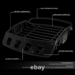 Universal Fit Car Top Luggage Carrier/holder Heavy Duty Steel Roof Cargo Basket