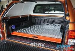 Universal Heavy Duty Load Bed Chequered Sliding Tray Toyota Hilux 2016+ Dcab