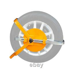 Universal Heavy Duty Security Anti-theft Full Cover Wheel Clamp Lock with2 Keys