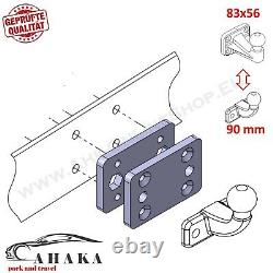 Universal Tow Bar Adapter Plate from 2 to 4 / 4 to 2 hole tow ball Heavy Duty