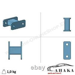 Universal Towbar Extension 125mm Heavy Duty Tow Ball Spacer Block 2 hole 90 mm