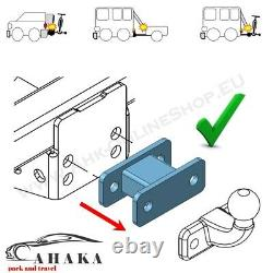 Universal Towbar Extension 125mm Tow Ball Spacer Block 2 hole 90 mm Heavy Duty